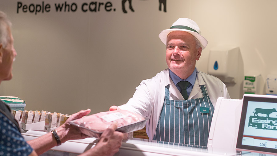 Essington butcher Andy Mcleod behind the butchery counter