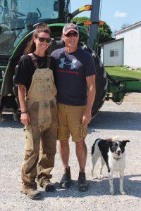 Sandi and Mark Brock on their farm
