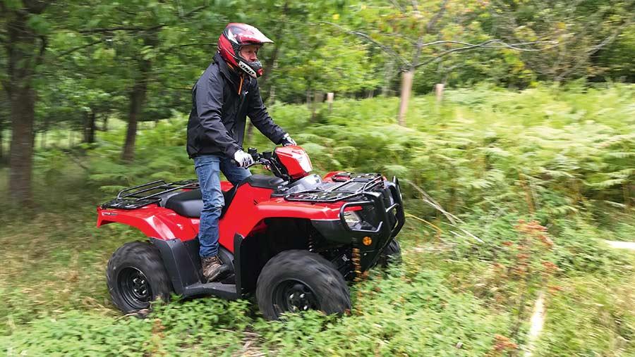 RIder on Honda ATV