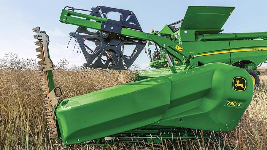 John Deere 700X in a crop
