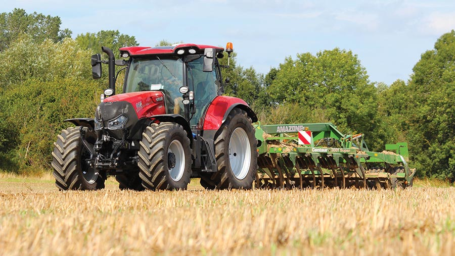 Case Maxxum tractor in field