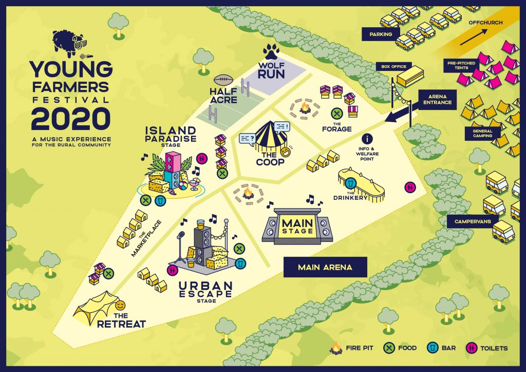 Young Farmers Festival 2020 site map
