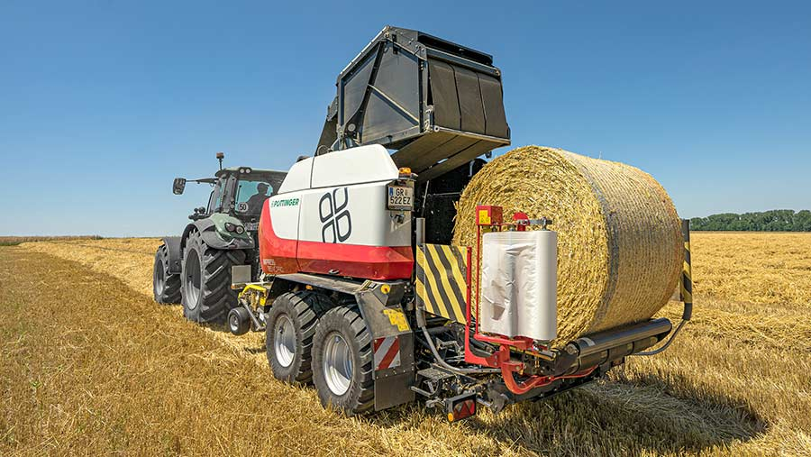 TIM technology promises to make light work of repetitive field operations such as baling © Pottinger