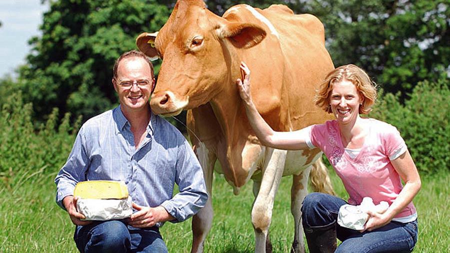 Jason and Katharine Salisbury, Sark Islandfarmers