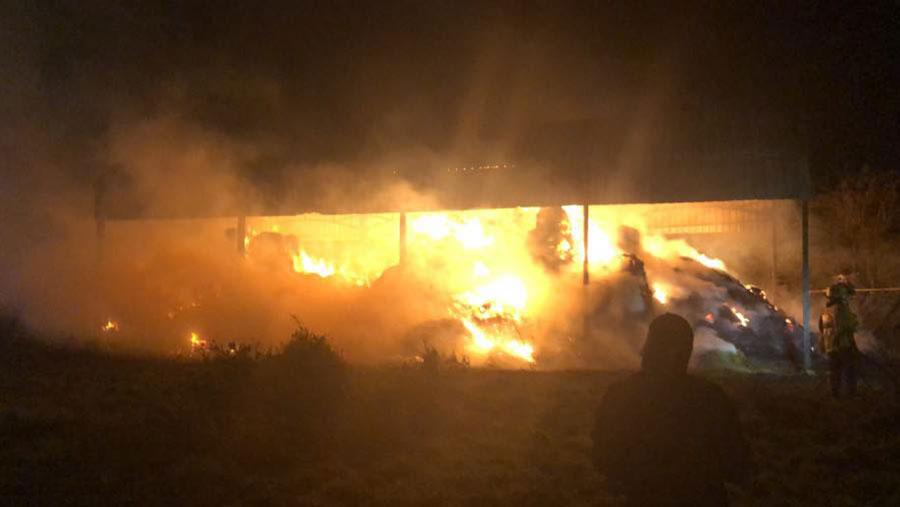 Blaze at Newark Cattle Market © Nottinghamshire Police