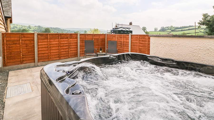 Hot tub at Pentre Fach