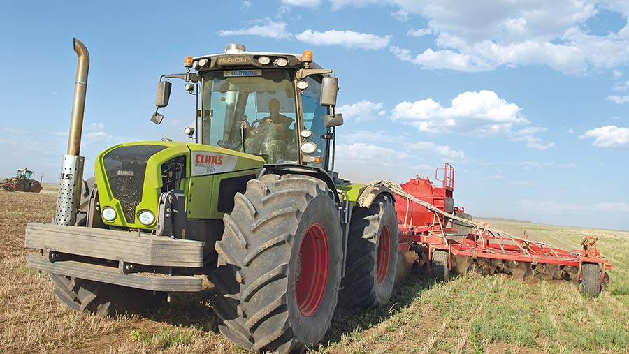 Claas Xerion in field