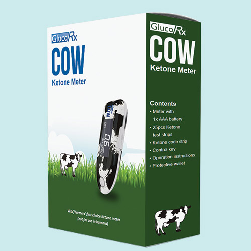 GlucoRx Cow ketone meter