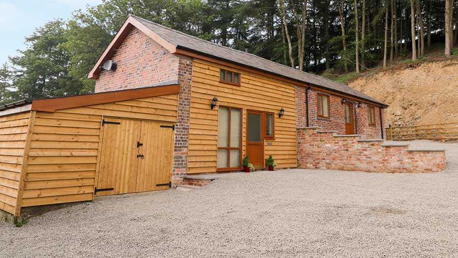 Converted barn at Pentre Fach