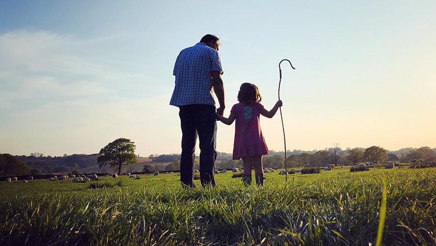 Farmer and daughter by Donna Ashlee