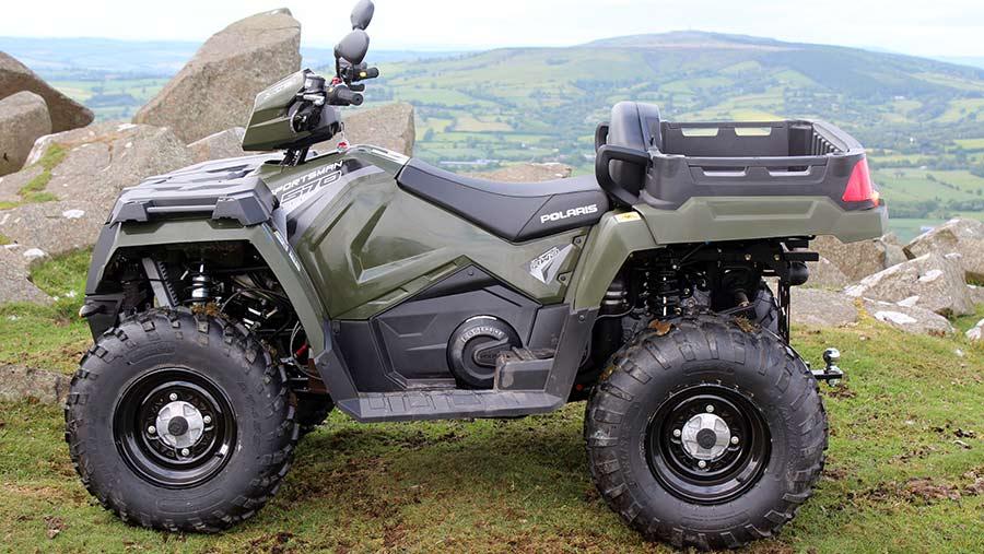 Polaris ATV side view