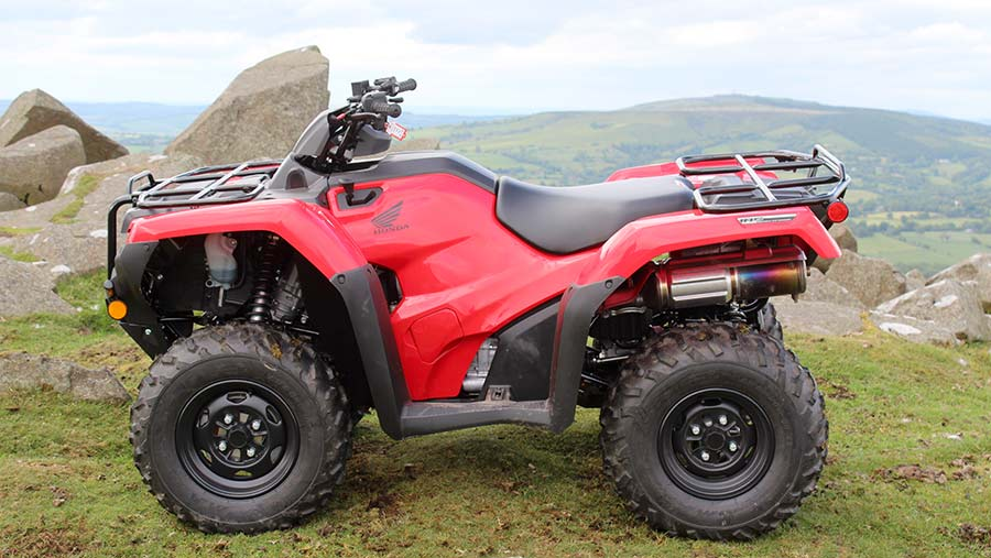 Honda ATV side view