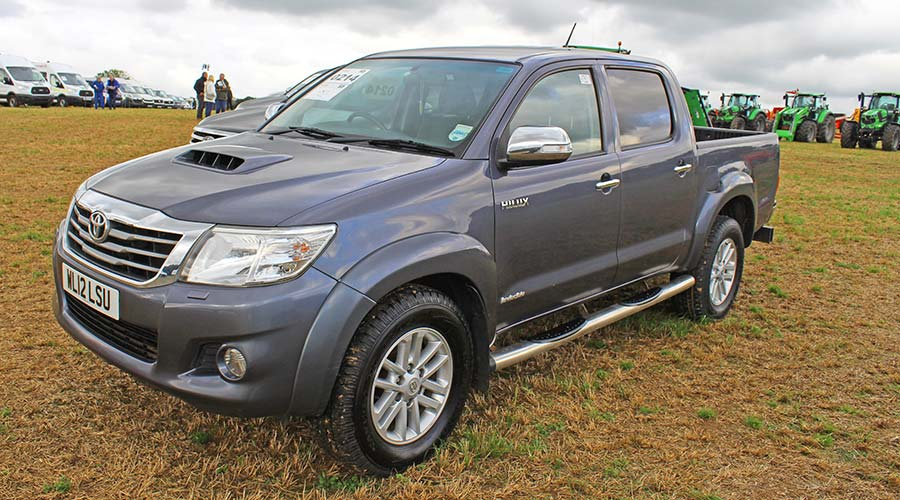 Toyota Hilux at auction