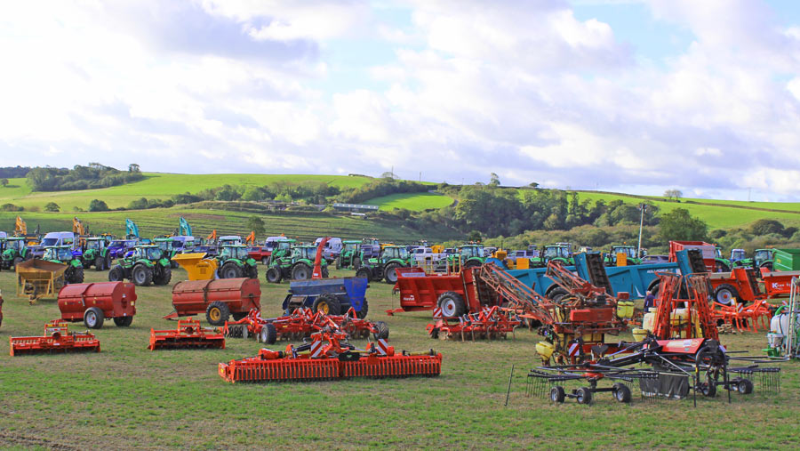 machinery for sale in field