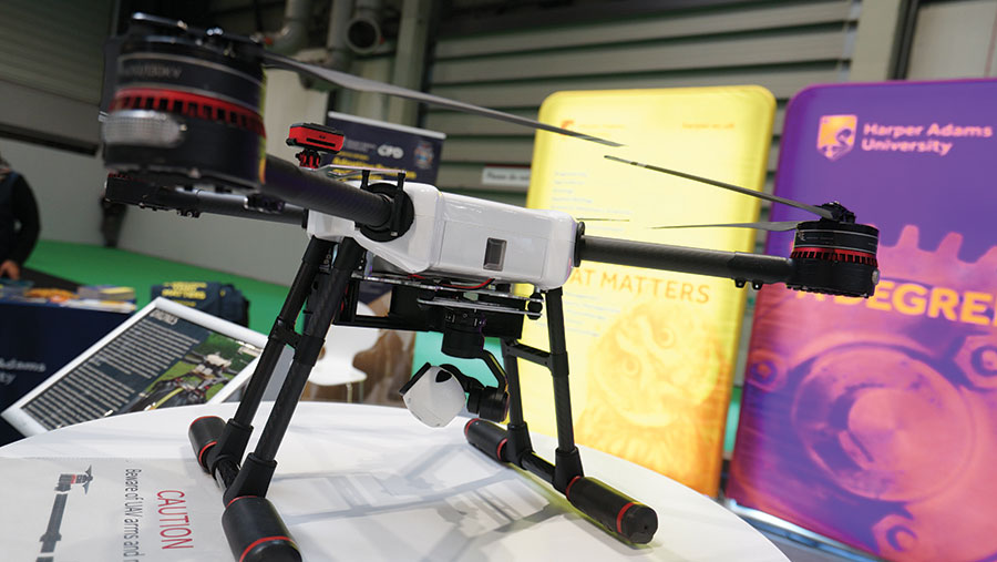 Drone at the Future Farm technology expo