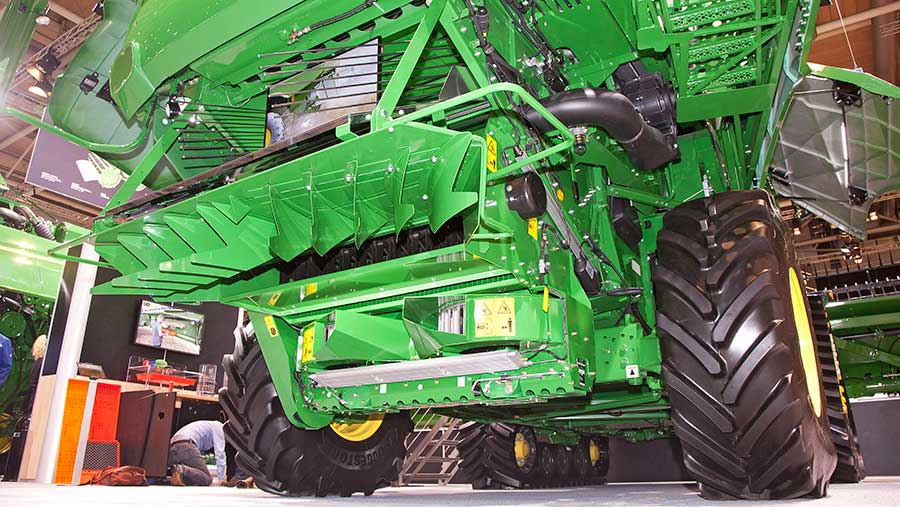 Redekop's device can be factory fitted to John Deere combines