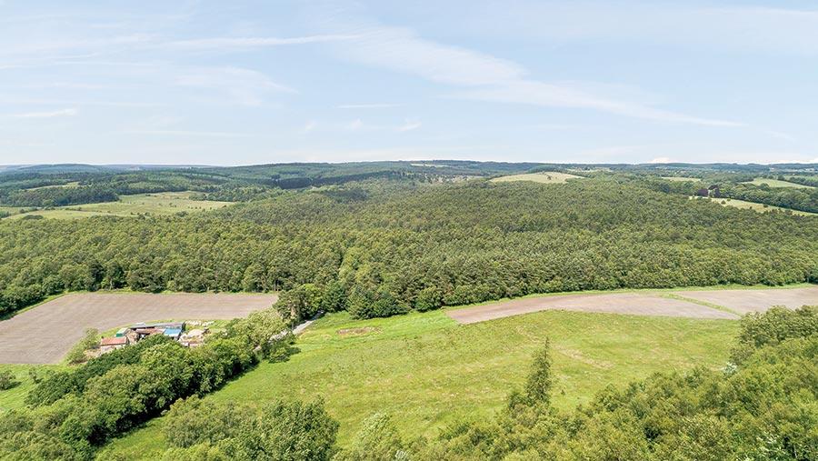 Aerial shot of Cawthorn Farm