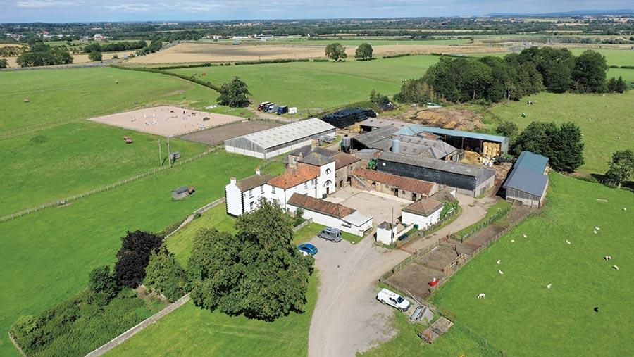 Aerial shot of Home Farm