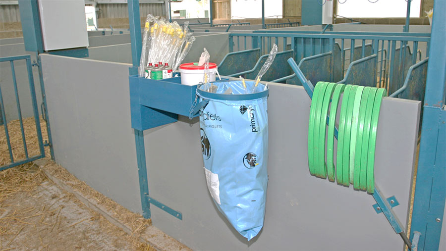 Insemination equipment ready for use