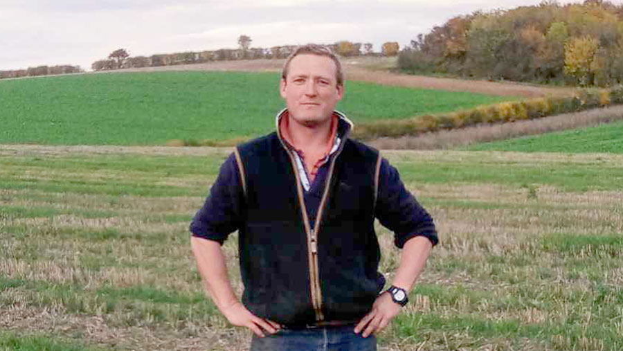 Will Wombwell standing in a field