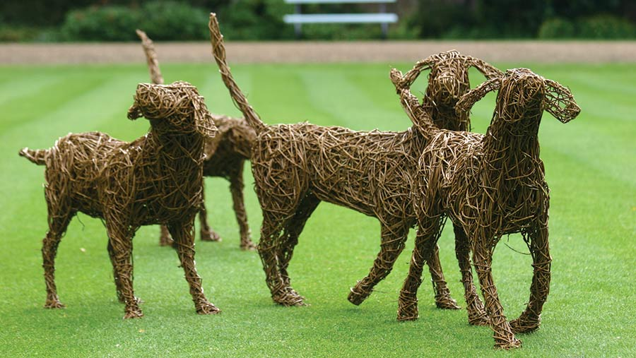 Emma Stothard's willow beagles