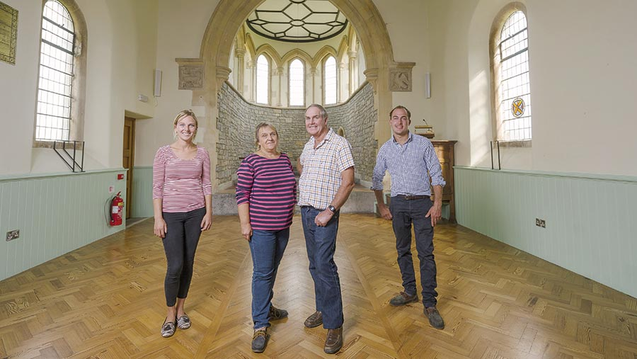 Michael and Jenny Churches with son Andrew and daughter Rachel