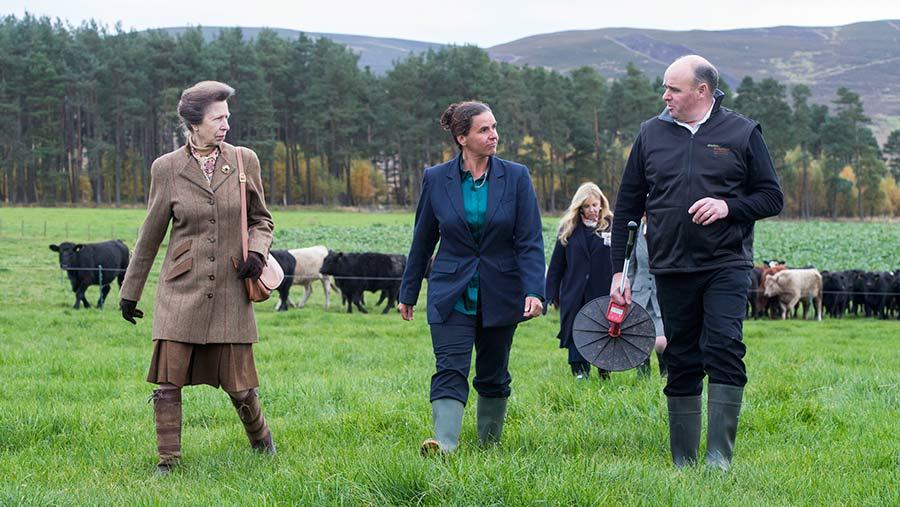 Michael Shannon and HRH Princess Anne © Alan Richardson/Quality Meat Scotland