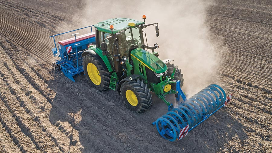 John Deere 6M series in field