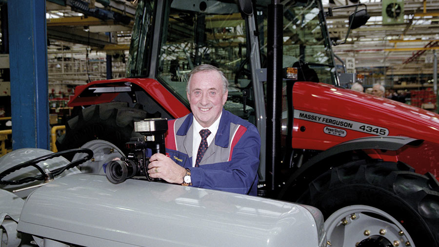 Ted Everett with tractor