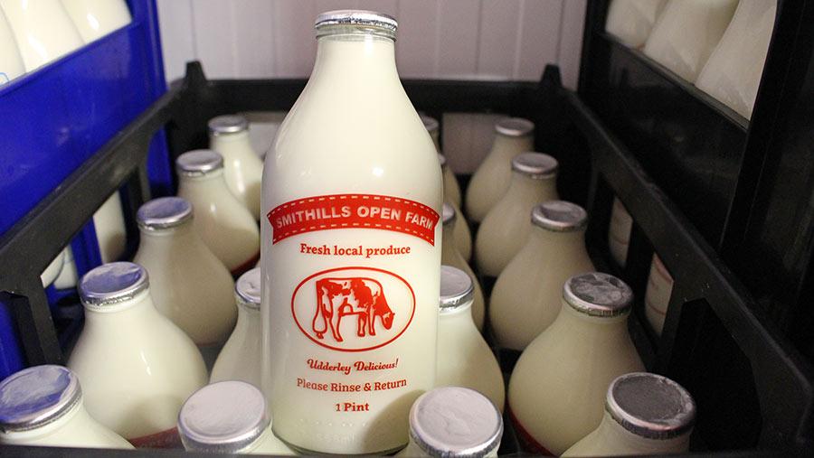 Smithills milk bottles