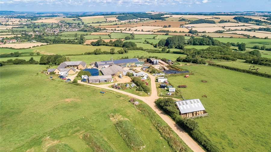 Aerial view of King Stone Farm