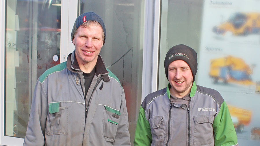 Richard Pykett and workshop manager Joe Bosworth