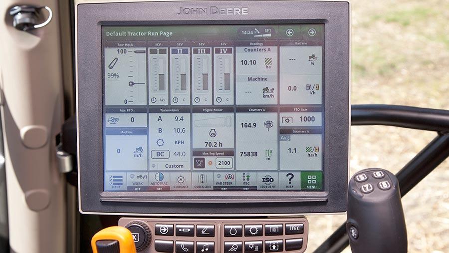 John Deere 6175R touchscreen