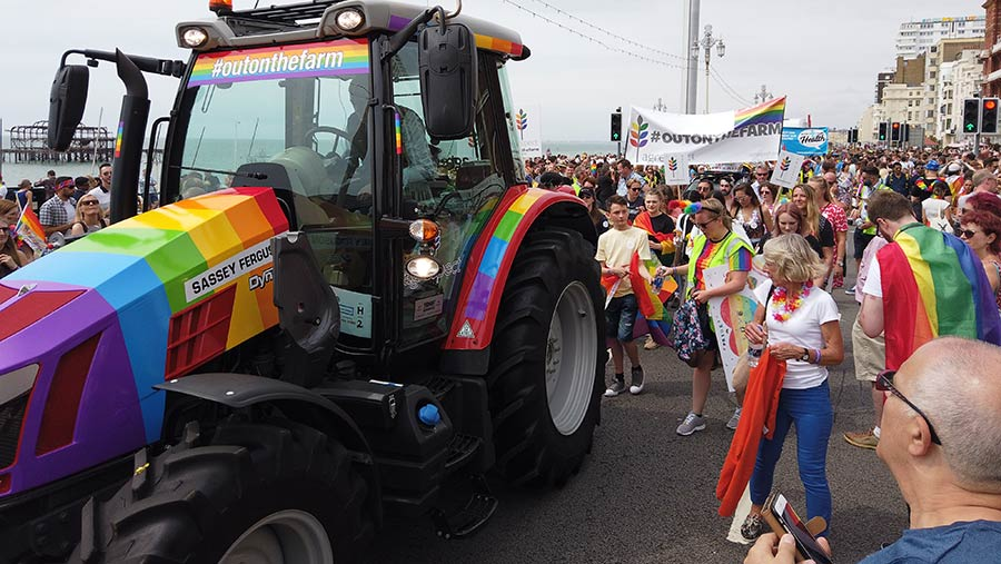 The Agrespect tractor at Pride