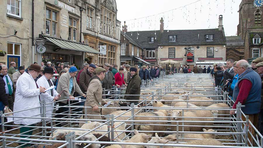 Uppingham Christmas market (pictured) along with Winslow are both more than 100 years old and still take place in the town market square