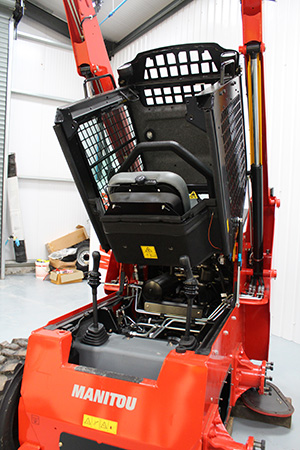 The Manitou 1650R's cab