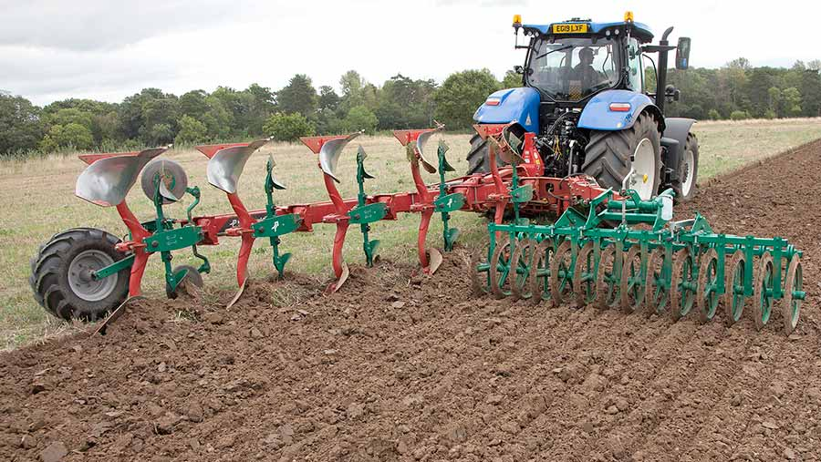 New-Holland T7.230 with plough