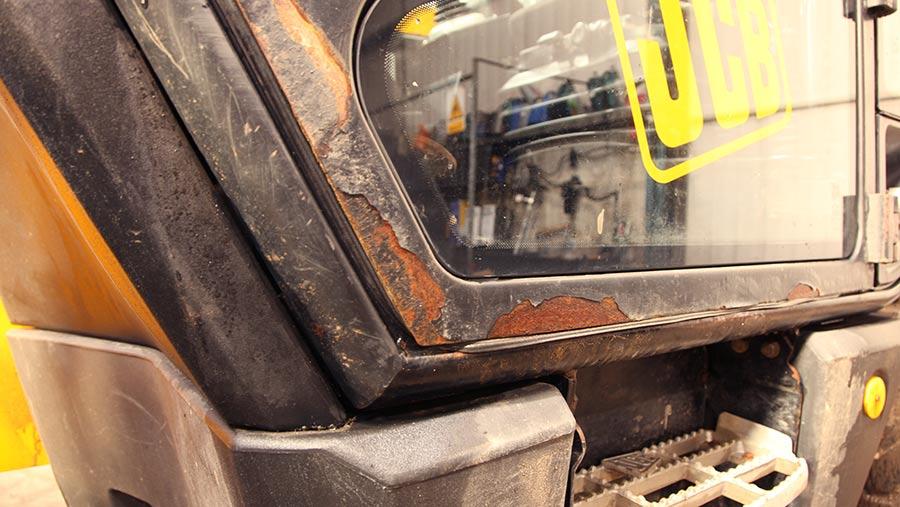 Corrosion around door