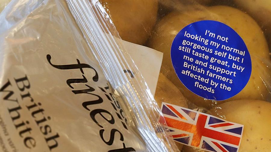 Tesco potatoes in bag