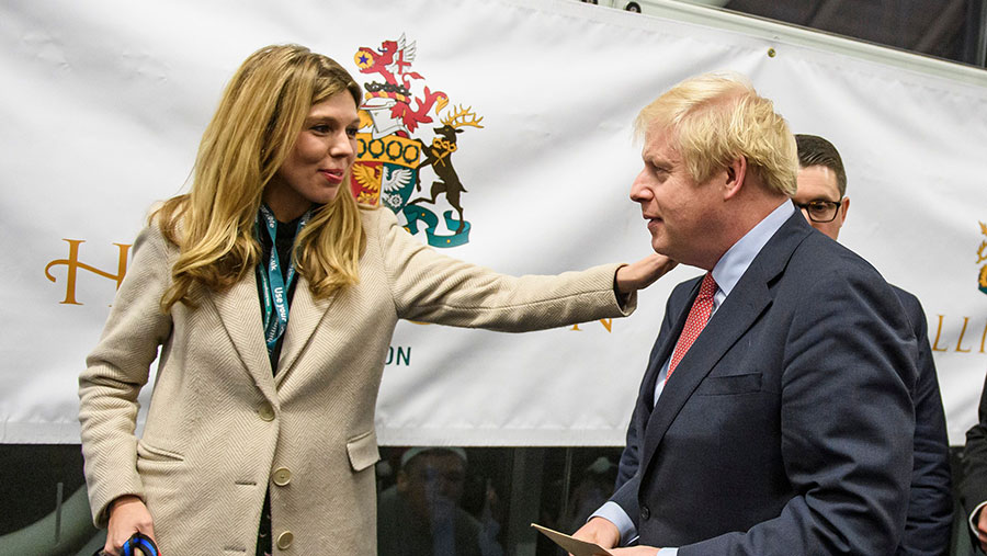British Prime Minister Boris Johnson with his partner, Carrie Symonds ©  Ben Cawthra/Shutterstock