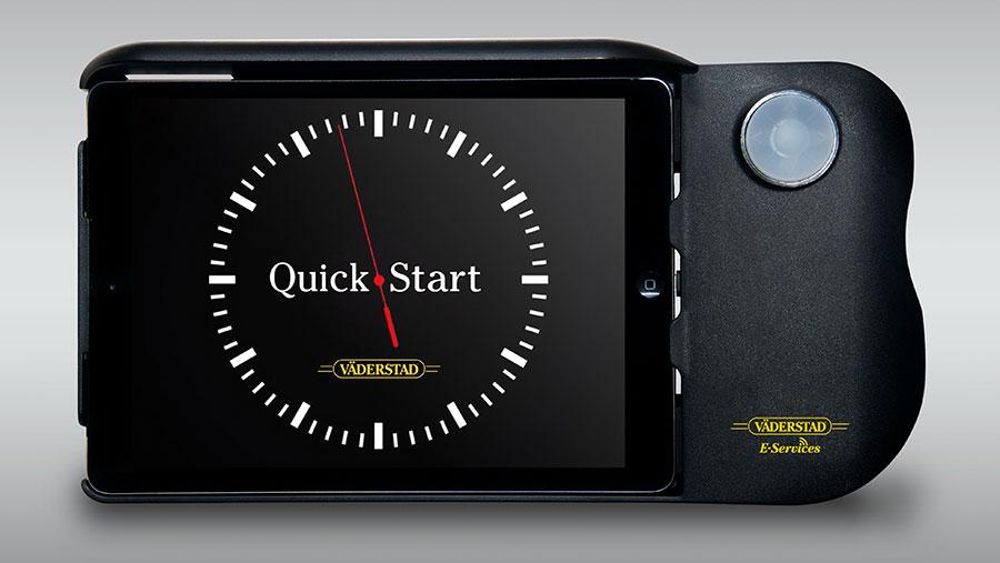 Vaderstad E-Control screen