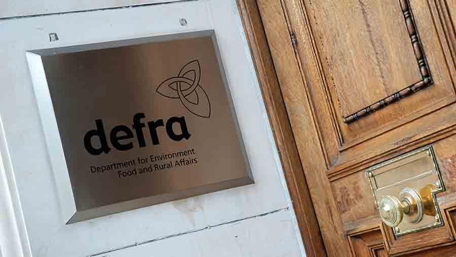 Defra sign on building