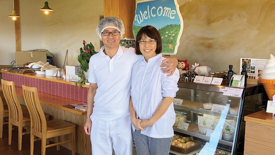Masanoru and Kunie Matsubata in their farm cafe