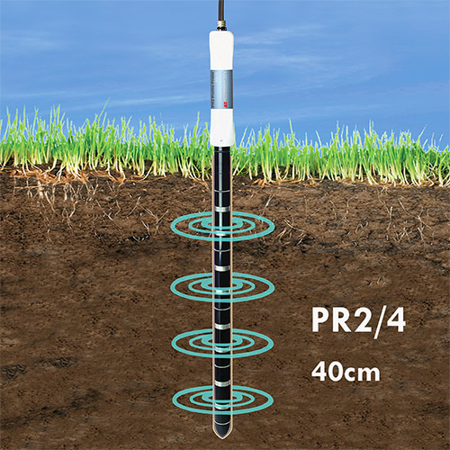 Delta T probe showing soil depth