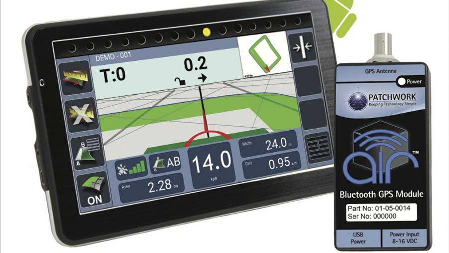 Patchwork Blackbox GPS unit and tablet