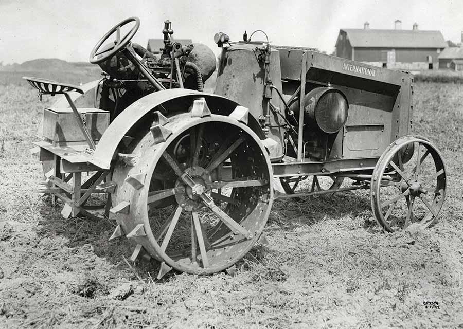 International steam tractor in a field