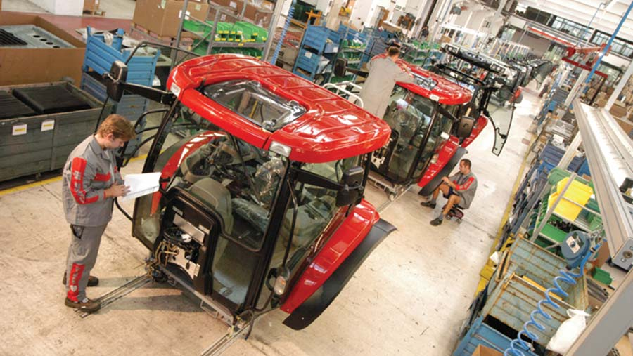 Case-IH tractor assembly