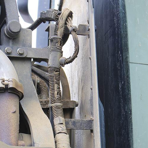 Wiring loom inside engine bay