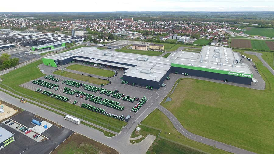 Aerial view of the Deutz-Fahr plant