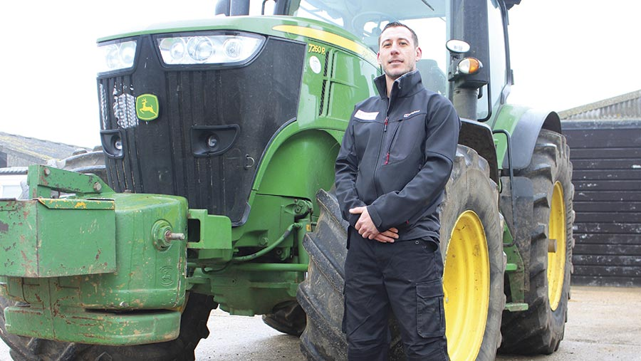 Ryan Fletcher with tractor